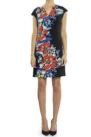 Joseph Ribkoff Size Chart Us Joseph Ribkoff Black Multi Floral Cap Sleeve Sheath Dress