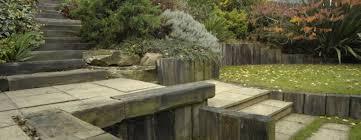 garden design using sleepers. garden steps made from railway sleepers design using p