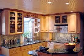 Kitchen:Ideal Kitchen Design Spice Jar Fruit Bowl L Shape Kitchen Cabinet  Ceiling Lamps Wooden