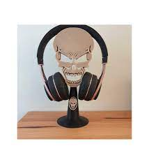 3D Baskı Kurukafa Masaüstü Kulaküstü Kulaklık Tutucu Model 01