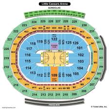 Little Caesars Arena Seating Chart View Prototypic Lca Seating Chart Little Caesars Arena Concert