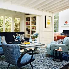 pattern blue rug living room