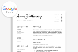 Google Doc Resume Template Resume Templates Creative Market