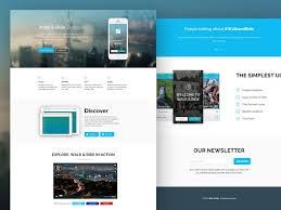 one page website template freebie walk ride one page website template codrops