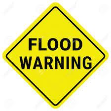 Warning Sign Flood Warning. Flash Flood ...
