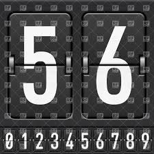 Number Flip Chart Mechanical Scoreboard Numbers Split Flap Flip Counter Stock Vector Image