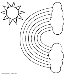 Coloring pages for nature ➜ tons of free drawings to color. Sun Rainbow And Clouds Coloring Pages Of Nature Coloring Pages Printable Com