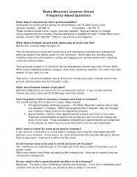 Powerline Technician Apprentice Resume Examples Lineman