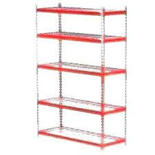 plastic storage shelving unit wire racks home depot shelf shelves units hdx 4 black ventilated plastic storage