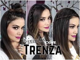 Peinados F Ciles Y Bonitos Con Trenza Youtube