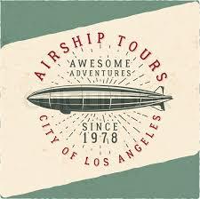T Shirt Template Unique Vintage Airship Tee Design Retro Dirigible Poster Airplane Label