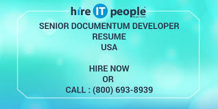 Senior Documentum Developer Resume Hire It People We Get It Done