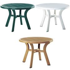 picture of truva resin round dining table 42 inch
