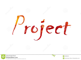 Project Word Design The Word Project Written In Watercolor Stock Illustration