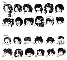 anime chibi drawing hair. Fine Anime Chibi Hair Styles By SuperCatGirldeviantartcom On DeviantArt With Anime Drawing O