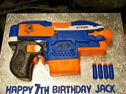 Nerf Birthday Cake Fascinating Best Nerf Gun Cake Ideas