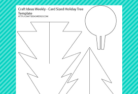 Free Christmas Tree Template Card Sized Paper Christmas Tree Template