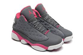 air jordan shoes for girls. girls air jordan 13 retro cool grey fusion pink white for sale-4 shoes