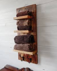 rustic bathroom shelves with hooks natural designs rio reclaimed wood shelves