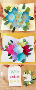 Mother Day Card Pop Up Flowers Diy Printable Mothers Day Card A Piece Of Rainbow