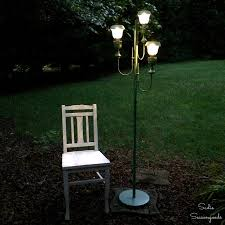how to make outdoor solar lights in addition to diy solar lights for outdoor yard parties with antique floor lamp source digsdigs соm