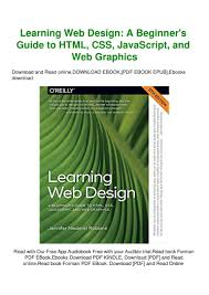 Learning Web Design Free Ebook Free Download Epub Learning Web Design A Beginners