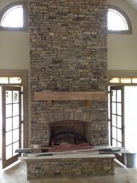 Outstanding Stone Veneer Fireplace Before After Pics Decoration Ideas