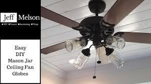 mason jar ceiling fan globes