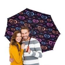 Зонты-трость двусторонние с деревянной ручкой c стильными ...