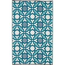 seville indoor outdoor rug blue