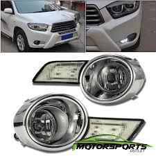 2011 Highlander Fog Light Bulb Details About For 2008 2009 2010 Toyota Highlander Euro Drl Led Fog Lights W Switch Harness