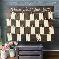 Picture Frame Seating Chart Wooden Guest Seating Chart Frame Sit Back And Relax