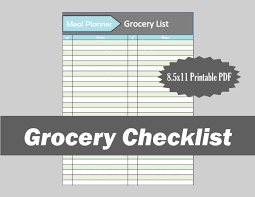 grocery checklist template grocery checklist template 11 free word excel pdf documents