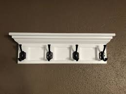 Crown Molding Coat Rack Wooden Wall Mounted Coat Rack with Shelf Crown Molding 14
