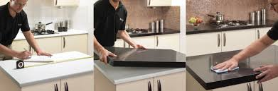 how the countertop overlay installation process works granite