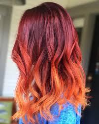 Haarkleurtrends Voor 2019 Red Ombre Kapsels Frisuren Ideen 2019