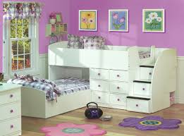 kids bedroom ideas for girls. Bedroom:Stunning Girls Bedroom Design With Flower Shape Rug And White Space Saving Bunk Bed Kids Ideas For