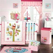 girl owl bedding baby nursery lighting fetching image of room decoration using light gorgeous colorful pink