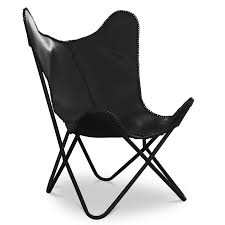 Buy Black Leather <b>Butterfly Chair Black</b> 58894 in the Europe ...