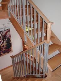... Stairs, Terrific Wood Stair Handrail Metal Stair Handrail Grey And  Brown Wood Stair: outstanding ...