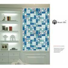 tst glass conch tiles beach style sea blue glass tile glass mosaics wall art kitchen backsplash