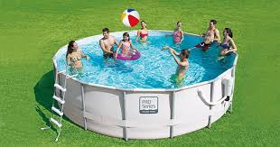 ideal for both large groups of swimmers and quick dips to cool off this circular frame pool comes complete with everything you need get set up swimming setup a48