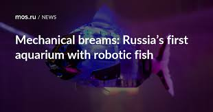 Mechanical breams: Russia's first <b>aquarium</b> with robotic <b>fish</b> / News ...