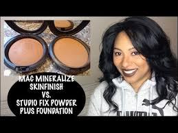 Mac Mineralize Skinfinish Color Chart Mac Mineralize Skinfinish Natural Vs Mac Studio Fix Powder Plus Foundation