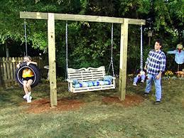 simple wooden swing set stunning diy tire swings backyard plans adams flowers decorating ideas 29