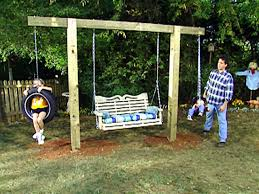 simple wooden swing set stunning diy tire swings backyard plans adams flowers decorating ideas 29