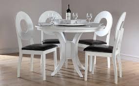 White Round Dining Table Set for 4 EVA Furniture