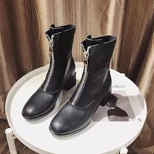 casidueho women short boots real leather winter booties front zipper high heels dress shoes woman 2018 new england motor bots cowgirl boots wide calf boots