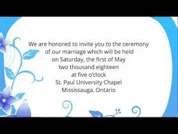 wedding invitation wording etiquette examples youtube Wedding Invitation Through Sms Wedding Invitation Through Sms #16 wedding invitation through sms