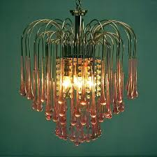 amber murano glass chandelier pink crystal teardrop waterfall chandelier by chandeliers for dining room contemporary